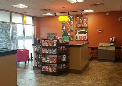 Dunkin Donuts Seating Area